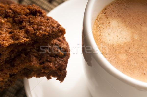 Sütik forró kávé kávézó Afrika fekete Stock fotó © joannawnuk