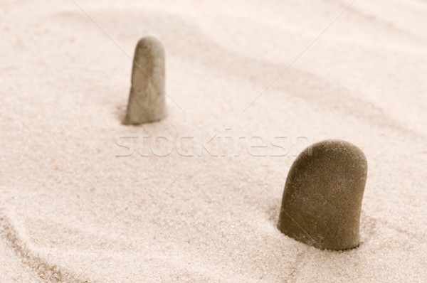Zen. Stone and sand  Stock photo © joannawnuk
