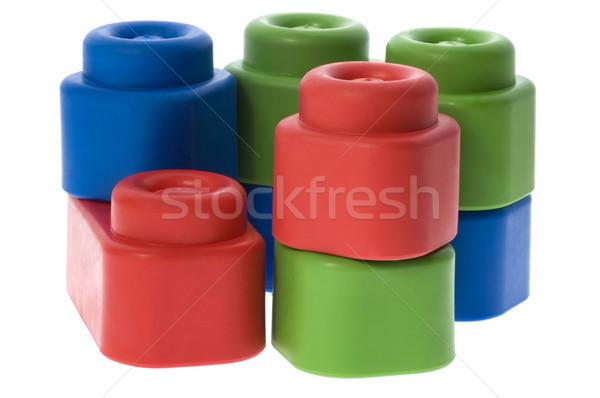 Colorato blocchi no bambino verde Foto d'archivio © joannawnuk