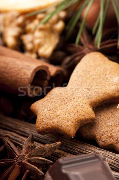 クリスマス 星 デザート お祝い 甘い ストックフォト © joannawnuk