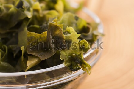 soaked wakame seaweed, japanese food Stock photo © joannawnuk
