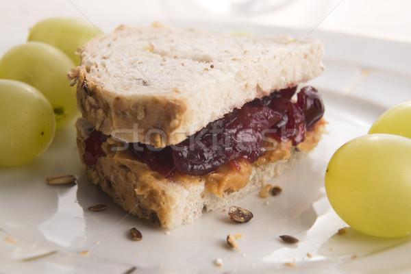 Burro di arachidi gelatina sandwich alimentare salute pane Foto d'archivio © joannawnuk