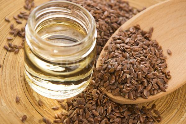 Yağ tohumları ahşap gıda ahşap sıvı Stok fotoğraf © joannawnuk