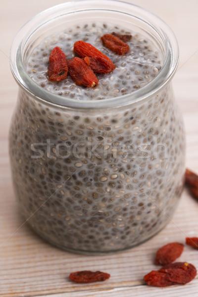 Chia seed pudding Stock photo © joannawnuk