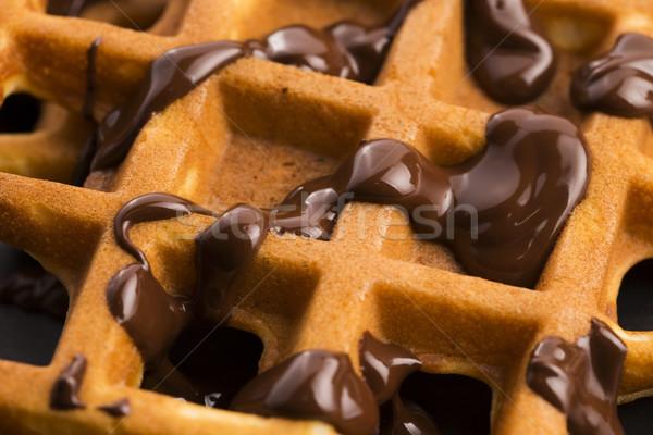 Csokoládé háttér kövér fehér ebéd friss Stock fotó © joannawnuk