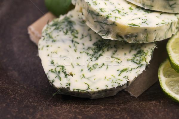 ハーブ バター 庭園 緑 レモン 新鮮な ストックフォト © joannawnuk