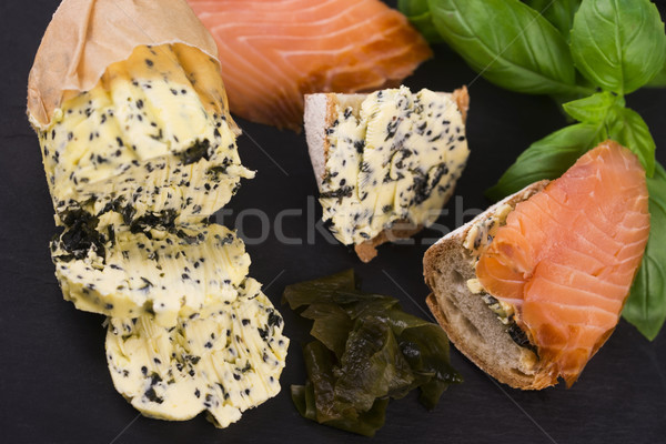 Ervas manteiga jardim verde limão sushi Foto stock © joannawnuk