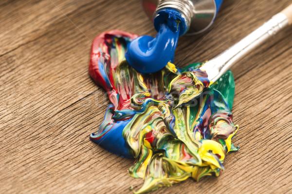 mixing paints. background  Stock photo © joannawnuk