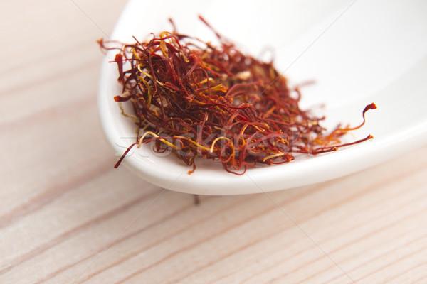 Zafferano nero cottura lusso Spice nessuno Foto d'archivio © joannawnuk