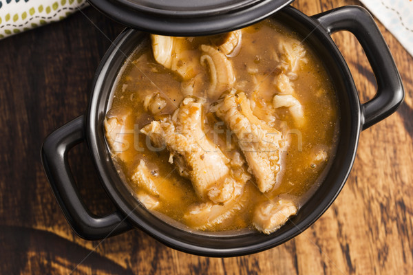 Rundvlees soep keuken brood vlees witte Stockfoto © joannawnuk