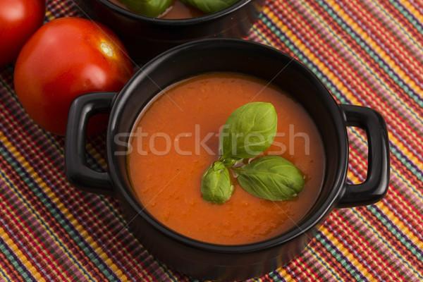 Tomato gazpacho soup, Spanish cuisine Stock photo © joannawnuk