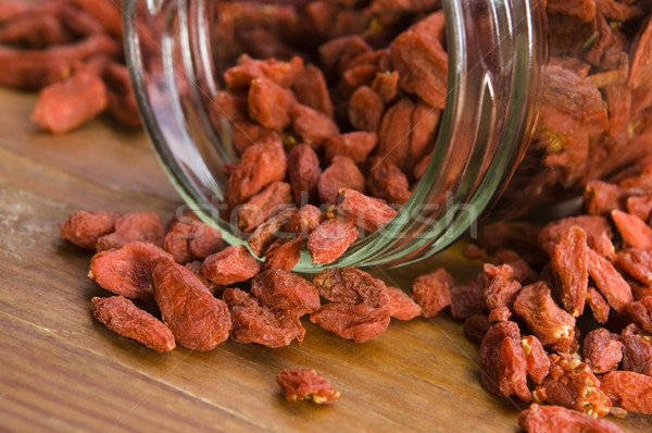 Red dried goji berries Stock photo © joannawnuk