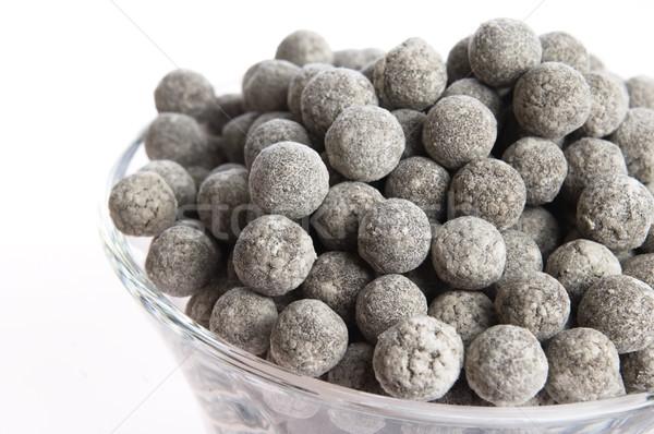 tapioca pearls with lime. white bubble tea ingredients Stock photo © joannawnuk