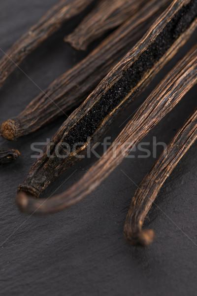 Vanília háttér fekete ázsiai főzés desszert Stock fotó © joannawnuk