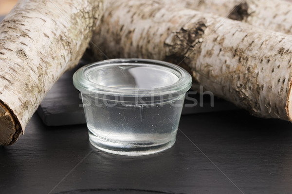 Abedul vino hojas jugo Foto stock © joannawnuk