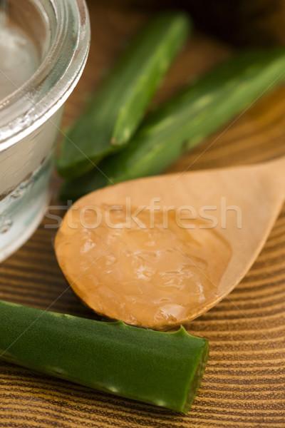 Aloe dzsúz friss levelek természet levél Stock fotó © joannawnuk