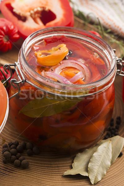 Homemade marinated in oil red pepper Stock photo © joannawnuk
