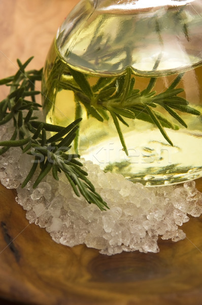 Essential Oil with rosemary and sea salt Stock photo © joannawnuk
