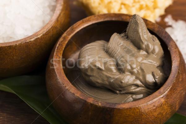 Mar morto lama sal tigela médico mar Foto stock © joannawnuk