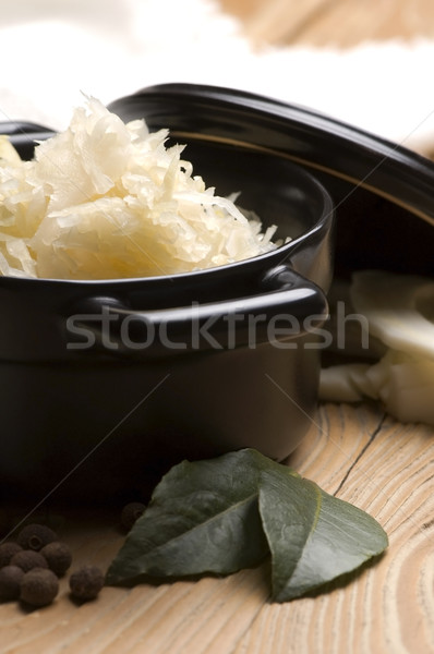 Stock photo: Fresh pickled cabbage - traditional polish sauerkraut
