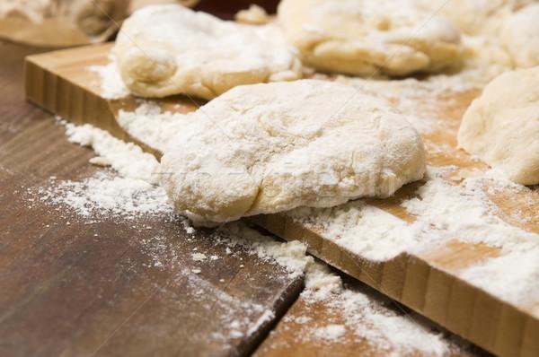 Photo stock: Alimentaire · cuisine · table · pain · pâtes