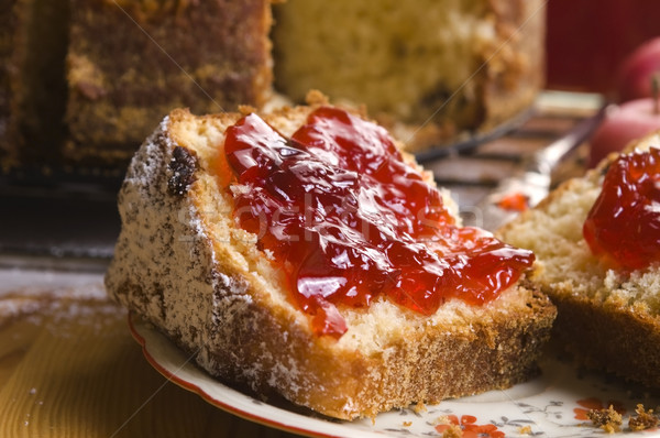 Traditional Polish Cake with apple marmelade Stock photo © joannawnuk