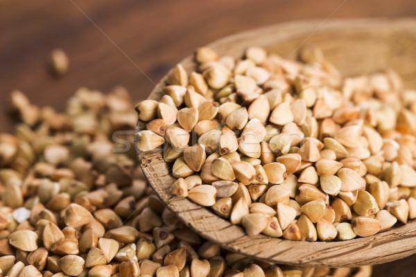 Kanál fából készült növény tábla mag gabona Stock fotó © joannawnuk