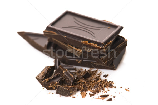 Chopped chocolate isolated on the white background Stock photo © joannawnuk