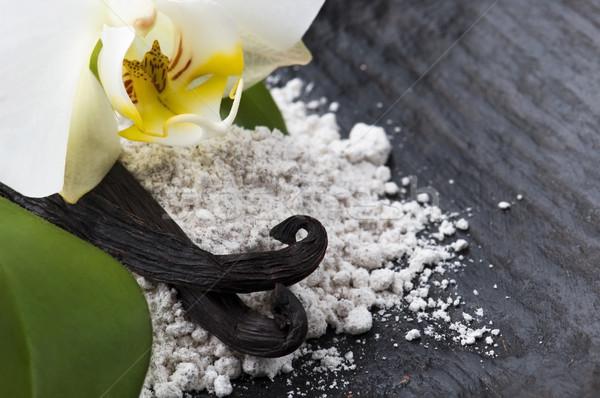 Vainilla frijoles aromático azúcar flor naturaleza Foto stock © joannawnuk