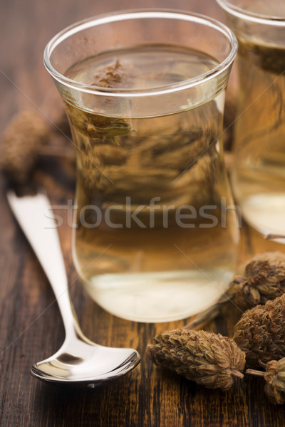 Stockfoto: Glas · wild · lavendel · thee · bloemen