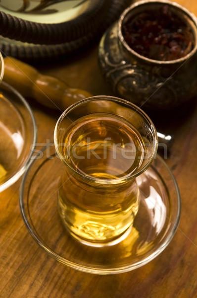 Cup turco tè narghilè servito tradizionale Foto d'archivio © joannawnuk