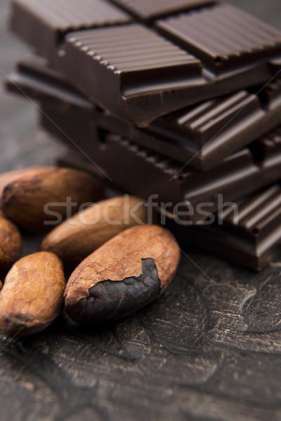 カカオ 豆 ミルク チョコレート ダークチョコレート グループ ストックフォト © joannawnuk