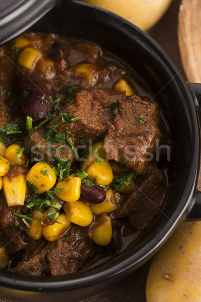 Tasty winter traditional hot pot stew with meat and vegetables  Stock photo © joannawnuk