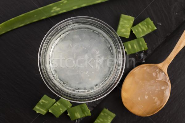 Aloe jugo frescos hojas naturaleza hoja Foto stock © joannawnuk