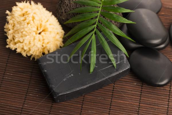ストックフォト: 自然 · カーボン · 石鹸 · 美 · 黒 · 皮膚
