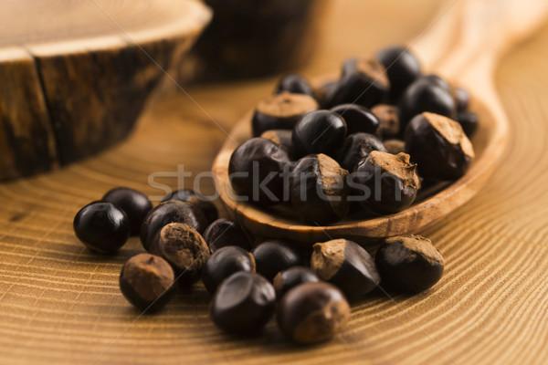 Sementes madeira café planta nozes temperos Foto stock © joannawnuk