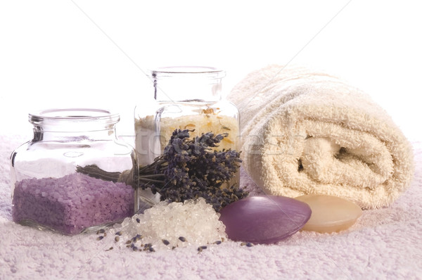 lavender bath items. aromatherapy Stock photo © joannawnuk