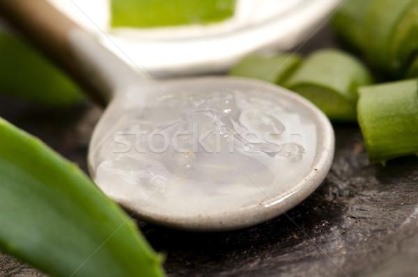 Stock fotó: Aloe · dzsúz · friss · levelek · levél · üveg