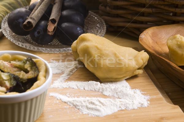 梅 材料 食品 自然 フルーツ ストックフォト © joannawnuk