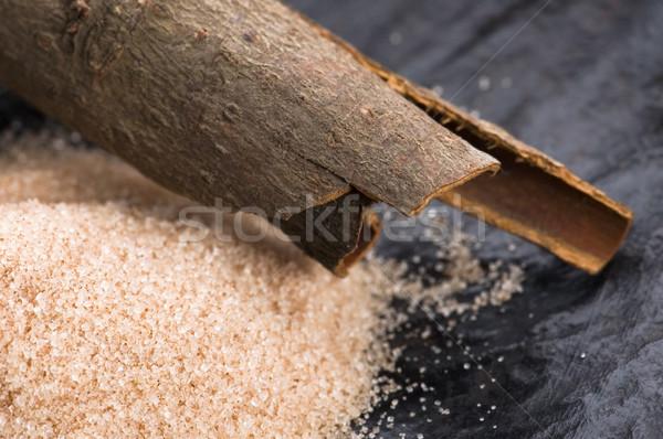 芳香族の スパイス ブラウンシュガー シナモン 背景 エネルギー ストックフォト © joannawnuk