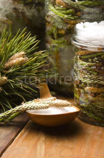 Natural medicine - syrup made of pine sprouts  Stock photo © joannawnuk