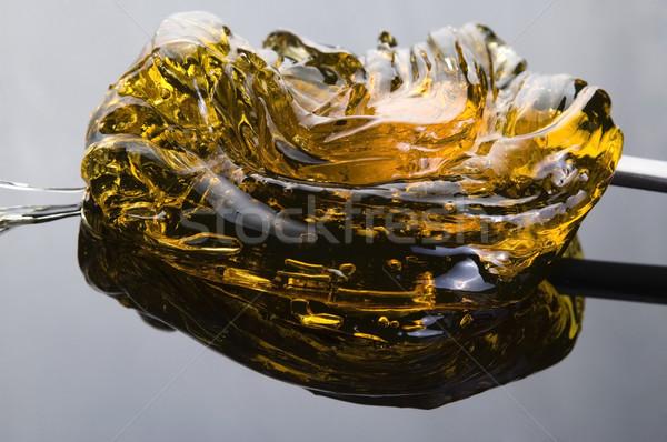 Caramel on the black Stock photo © joannawnuk