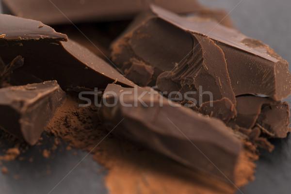 切り チョコレート カカオ 食品 背景 バー ストックフォト © joannawnuk