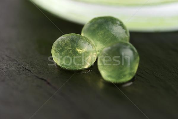 Nane havyar moleküler gastronomi yeşil bilim Stok fotoğraf © joannawnuk