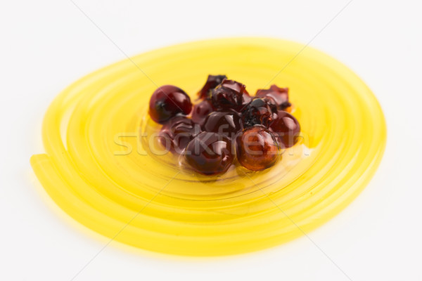molecular fruit spaghetti with rowan in syrup Stock photo © joannawnuk