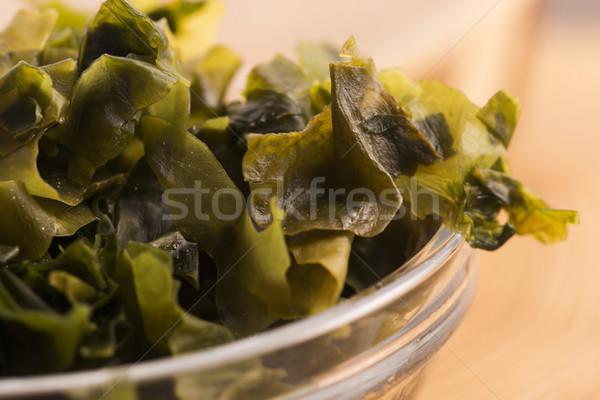 Сток-фото: морские · водоросли · японская · еда · продовольствие · зеленый · приготовления · растительное