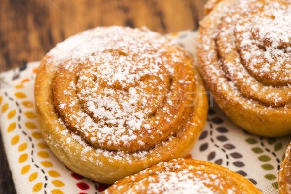 Levadura canela alimentos fondo torta Foto stock © joannawnuk