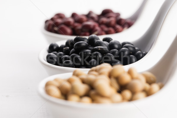 tricolor soybeans Stock photo © joannawnuk