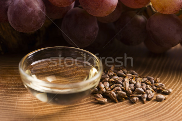 ブドウ シード 油 ボトル 白 化粧品 ストックフォト © joannawnuk