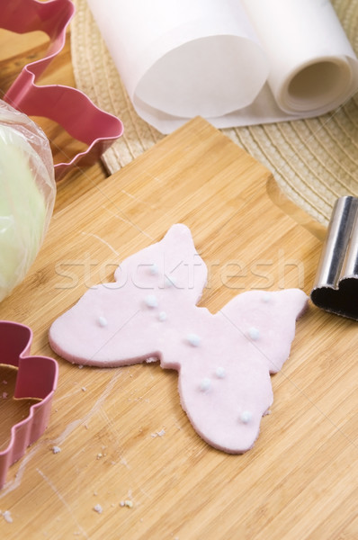 Homemade frosting decoration Stock photo © joannawnuk